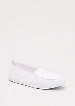 White Eyelet Loafer