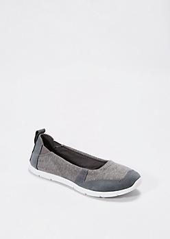 Grey Jersey Knit Sports Flat