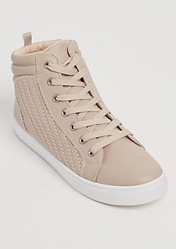 Woven High Top Sneaker