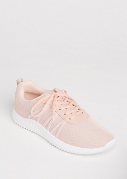 Pink Mesh Strapped Trainer