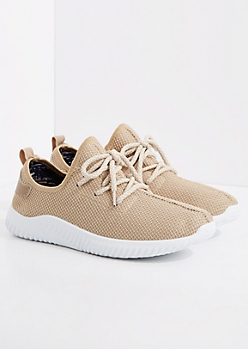 Taupe Mesh Trainer