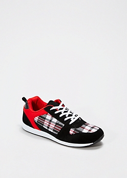 Red Plaid Sneaker