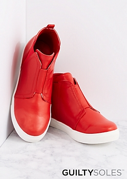 Red Naya High Top Sneaker By GuiltySoles