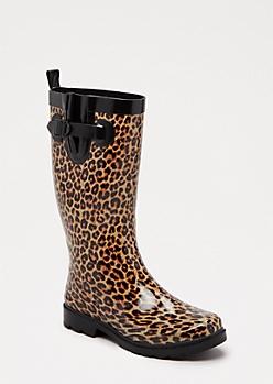 Tall Leopard Rain Boot by Capelli New York®