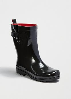 Mid Calf Black Rain Boot By Capelli New York®