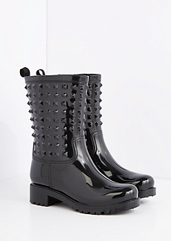 3D Studded Rain Boot by Capelli New York