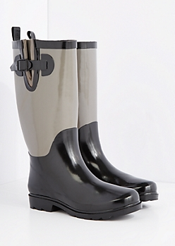 Gray Calf Tall Rain Boot by Capelli New York