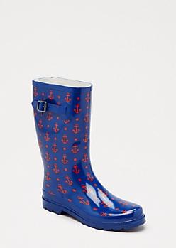 Anchor Mid Calf Rain Boot
