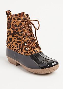 Leopard Duck Boot By Yoki