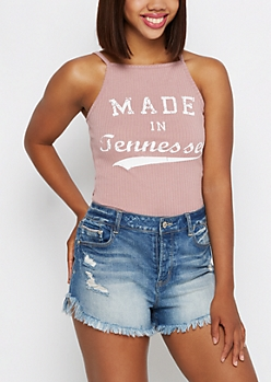 Tennessee Ribbed High Neck Tank