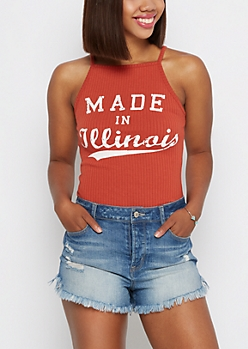 Illinois Ribbed High Neck Tank