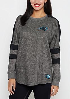 Carolina Panthers Athletic Striped Sweatshirt