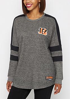 Cincinnati Bengals Athletic Striped Sweatshirt