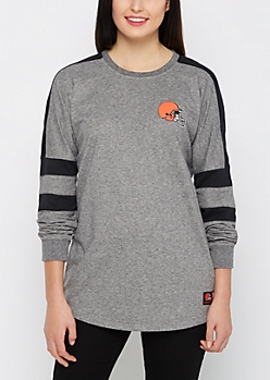 Cleveland Browns Athletic Striped Sweatshirt