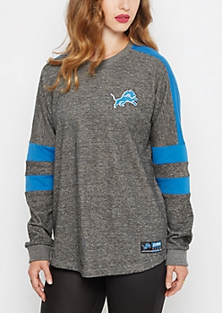 Detroit Lions Athletic Striped Sweatshirt