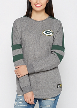 Green Bay Packers Athletic Striped Sweatshirt