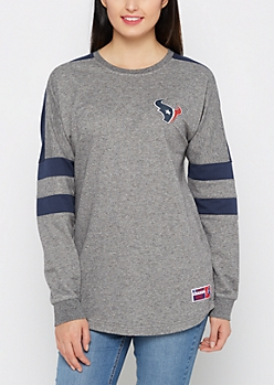 Houston Texans Athletic Striped Sweatshirt