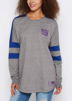 New York Giants Athletic Striped Sweatshirt