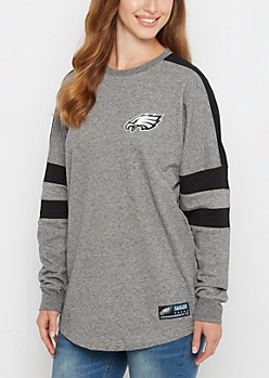 Philadelphia Eagles Athletic Striped Sweatshirt