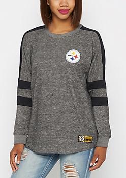 Pittsburgh Steelers Athletic Striped Sweatshirt