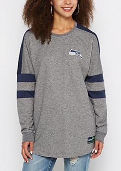 Seattle Seahawks Athletic Striped Sweatshirt