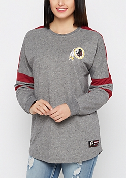 Washington Redskins Athletic Striped Sweatshirt