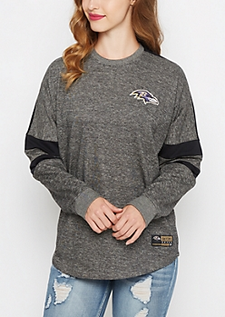 Baltimore Ravens Athletic Striped Sweatshirt