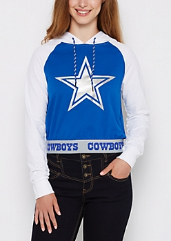 Dallas Cowboys Cropped Hoodie