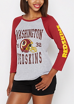 Washington Redskins Heathered Baseball Tee