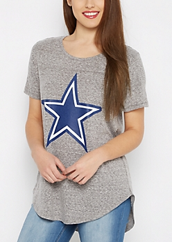 Dallas Cowboys Marled Logo Tee