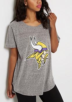 Minnesota Vikings Marled Logo Tee