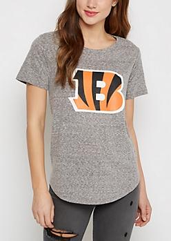 Cincinnati Bengals Marled Logo Tee