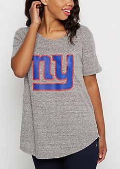 New York Giants Marled Logo Tee