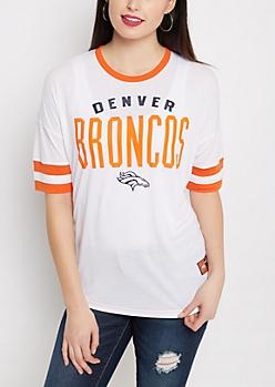 Denver Broncos Foiled Ringer Tee