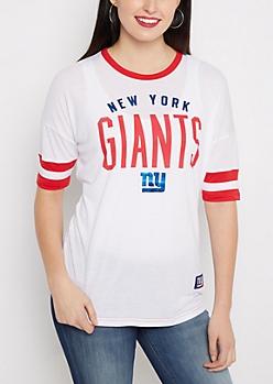 New York Giants Foiled Ringer Tee