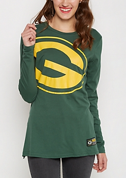 Green Bay Packers Logo Long Sleeve Tee