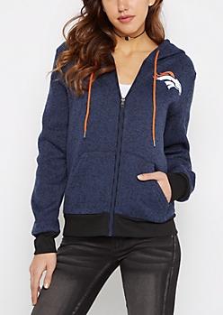 Denver Broncos Zip Sweater Hoodie