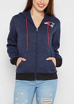 New England Patriots Zip Sweater Hoodie