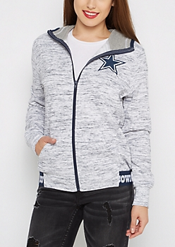 Dallas Cowboys Space Dyed Zip Hoodie
