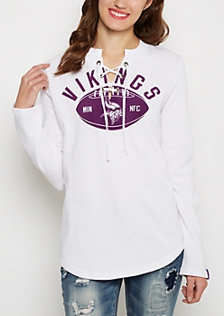 Minnesota Vikings Lace-up Sweatshirt