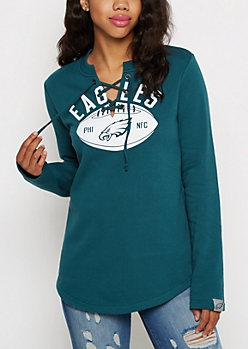 Philadelphia Eagles Lace-up Sweatshirt