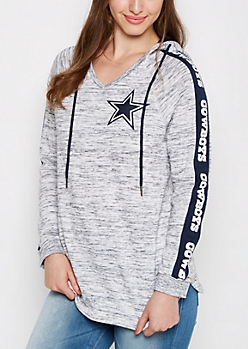 Dallas Cowboys V-Neck Space Dyed Hoodie
