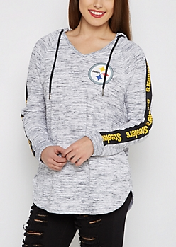 Pittsburgh Steelers V-Neck Space Dyed Hoodie