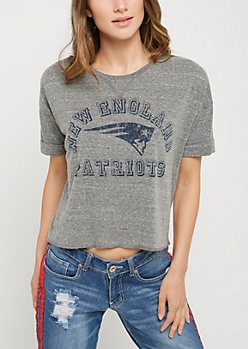 New England Patriots Crop Tee