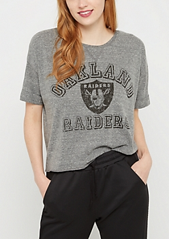 Oakland Raiders Crop Tee