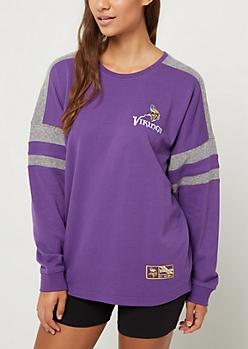 Minnesota Vikings Drop Yoke Sweatshirt
