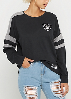 Oakland Raiders Drop Yoke Sweatshirt