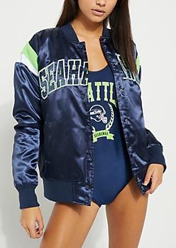 Seattle Seahawks Striped Bomber Jacket