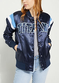 Tennessee Titans Striped Bomber Jacket
