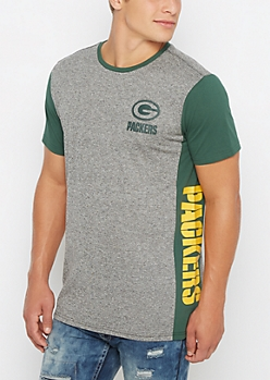 Green Bay Packers Long Length Marled Tee